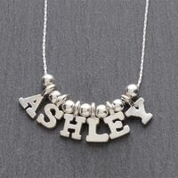 Personalized Silver Necklace - 5-8 Letter Name