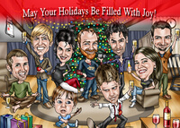 Hand-Drawn Christmas Caricature - For Cards Or A..