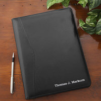 Personalized Leather Portfolio - Black