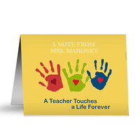 Personalized Teacher Note Cards - Touches A Life..