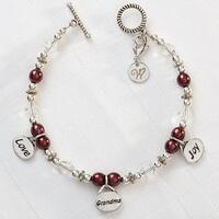 Personalized Charm Bracelet - Love, Grandma, Joy