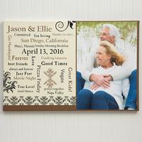 Personalized Wedding Anniversary Photo Canvas..