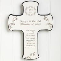 Personalized Wall Cross - Our Anniversary Blessing