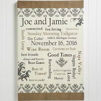 Personalized Wedding Gift Canvas Art - Life..