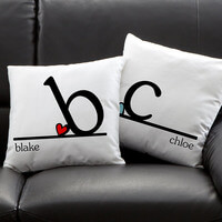 Personalized Throw Pillows - Heart Felt