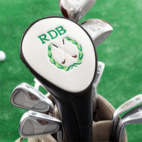 Personalized Golf Club Head Cover With Golf Crest