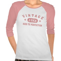 Personalize Pink Vintage Aged To..