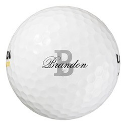 Custom Name Monogram Golf Balls..