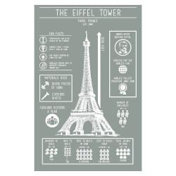 Eiffel Tower Infographic Screenprint