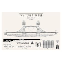 Tower Bridge Infographic Screenprint