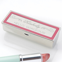 Engraved Lipstick Case - Makeup..