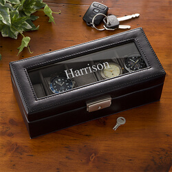 Personalized 5 Slot Watch Box - Name