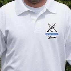 Gone Fishing Personalized Polo Shirt