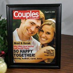 Couples Magazine Cover Frame