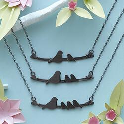 Mother Nestling Birds Necklace