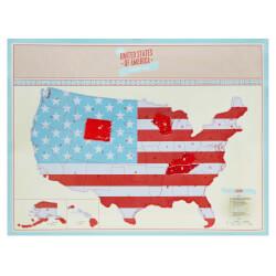 USA Scratch Map
