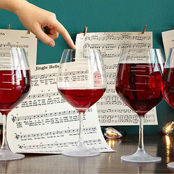 Major Scale Musical Wine Glasses -..