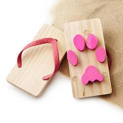 Animal Footprint Flip Flops