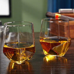 Prism Faceted Whiskey Tumblers,..