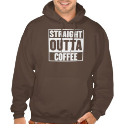 STRAIGHT OUTTA COFFEE MENS HOODIE