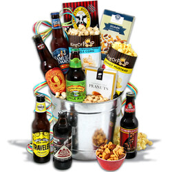 Microbrew Beer Bucket Gift Basket