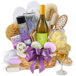 Premium Spa Wine Gift Basket