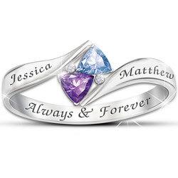 Loves Promise Engraved Birthstone..