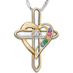 Mothers Cross Necklace With..