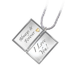 Diamond Love Letter Locket With..