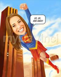 Supergirl Caricature From Photos