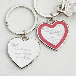 Personalized Heart Key Chain -..