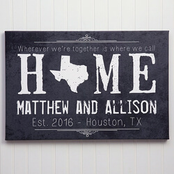Personalized Canvas Prints - State..