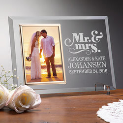 Personalized Glass Wedding Frames..