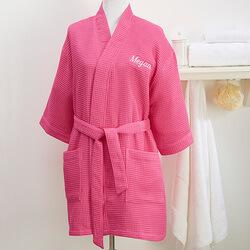 Personalized Pink Kimono Robe -..
