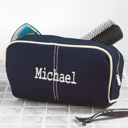 Mens Toiletry Bag - Embroidered Name