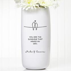Personalized Romantic Vase -..