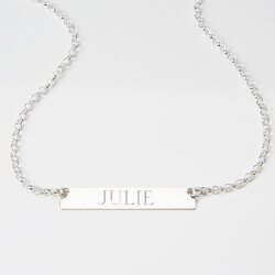 Personalized Silver Name Plate..