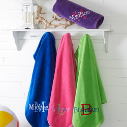 Embroidered Beach Towels - All..