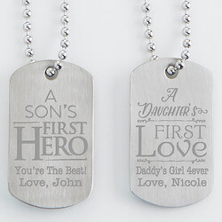 Personalized Dog Tag Set Of Two -..