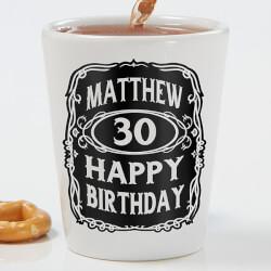 Personalized Birthday Shot Glass -..