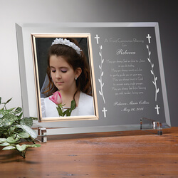 Personalized First Communion Glass..