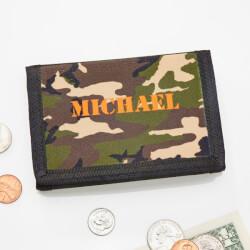 Kids Camouflage Tri-Fold Wallet..