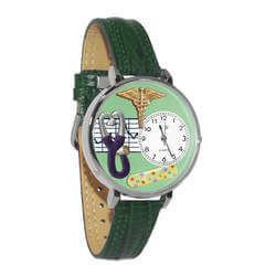 Nurse 2 Green Watch In Silver..