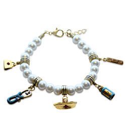 Nurse Charm Bracelet In Gold