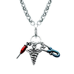 Nurse Charm Necklace In Silver