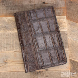 Amish Crafted Brown Alligator Skin..