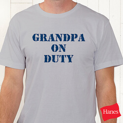 On Duty Personalized T-Shirt For..