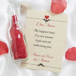 Love Letter In A Bottle Romantic..