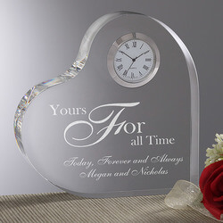 Personalized Romantic Heart Clock..