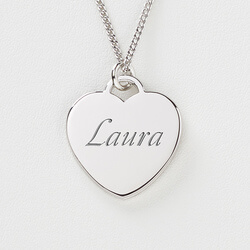 Personalized Sterling Silver Heart..